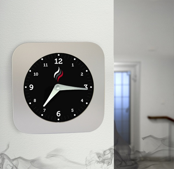 Smoke Alarm Clock – the alarm means something is on fire