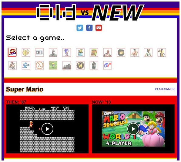 Games Old vs New – mind-blowing look at how your favorite game has changed over time