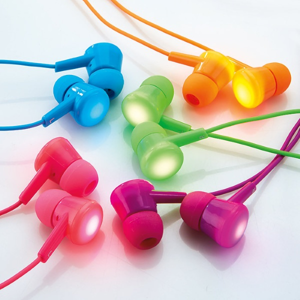 Flash Bud Earbuds – turn your ears into a light show