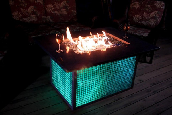 Color Changing Gabian Fire Pit – add a little class to your fire