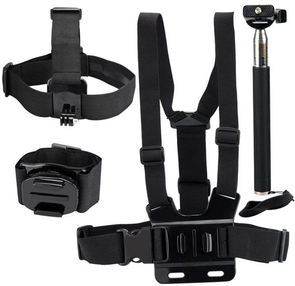 Dazzne 8 in 1 GoPro & Action Cam Kit – turn your body into a camera happy straps chappie