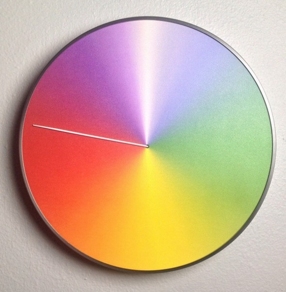The Present Clock – keep track of the whole year with this multicolored wall piece