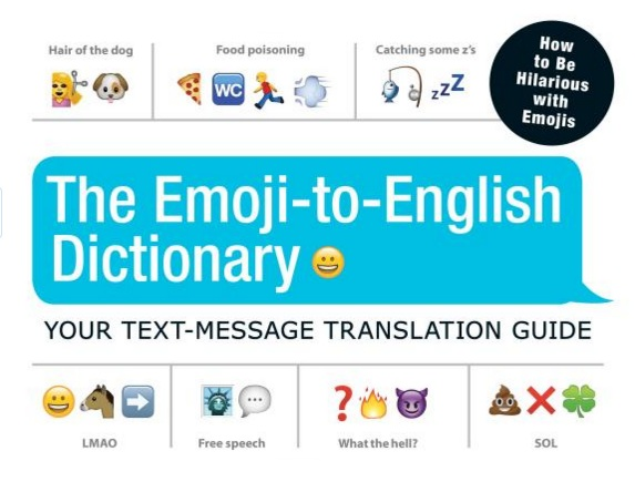 The Emoji-To-English Dictionary cover