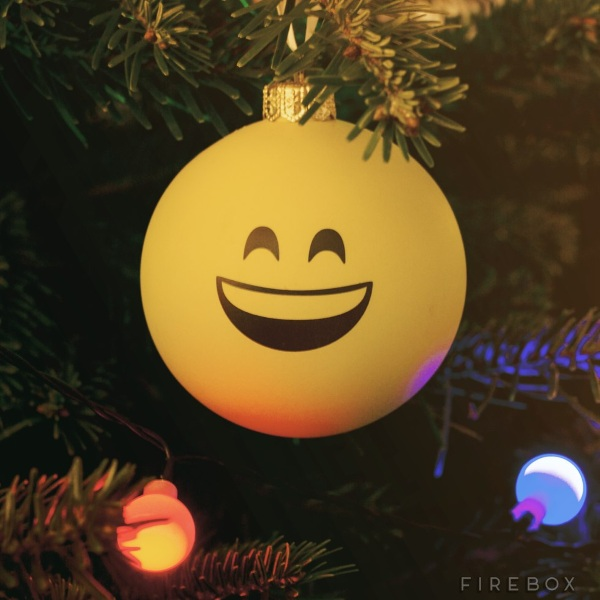 Emoji Baubles – clearly represent your joy for the holiday season
