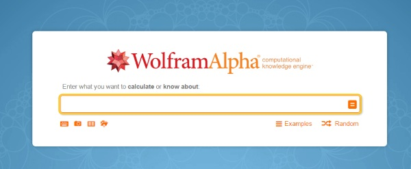 Wolfram Alpha search