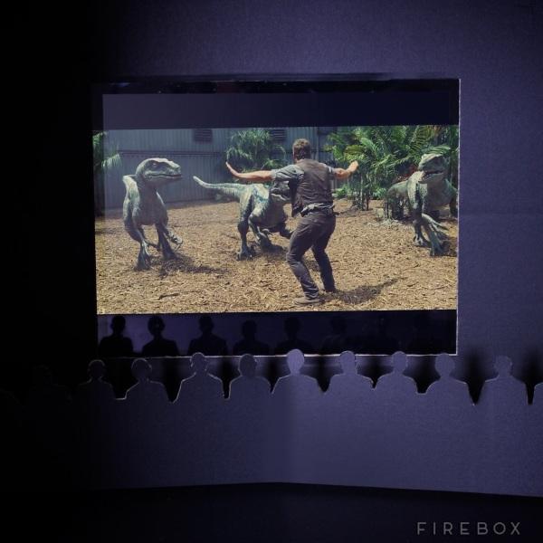 Cardboard Home Cinema inside