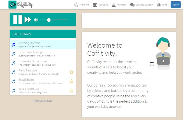 Coffivity – get that coffee house sound without leaving your house