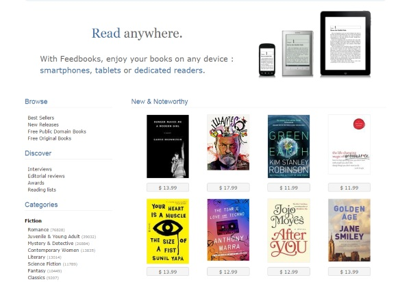 Feed Books – free digital books both new and not so new