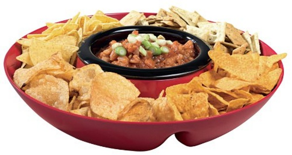 Heated Chip and Dip Tray – warm dip for all your party needs