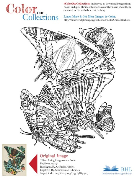 Biodiversity Heritage Library wants you to color their collection