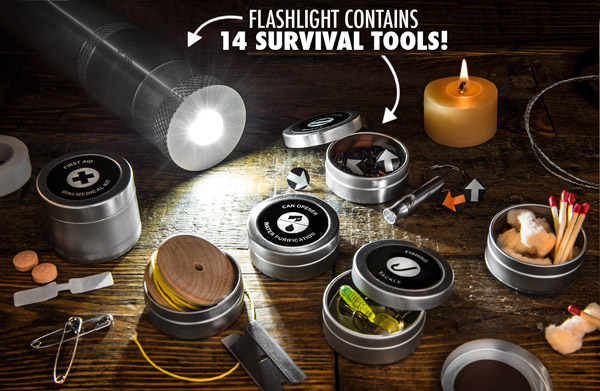 VSSL Survival Kit + Flashlight – a compact bugout kit for any situation