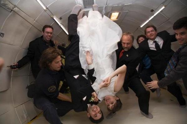 Zero-G wedding