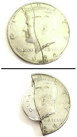 Fifty Cent Covert Knife Coin – perfect for escaping from traumatic situations with the relatives