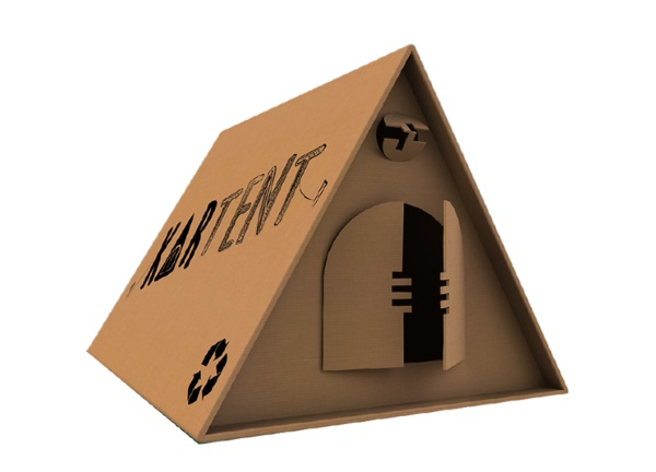 KarTent – the waterproof cardboard tent
