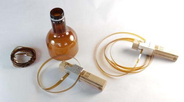 Plastic Bottle Cuter in use