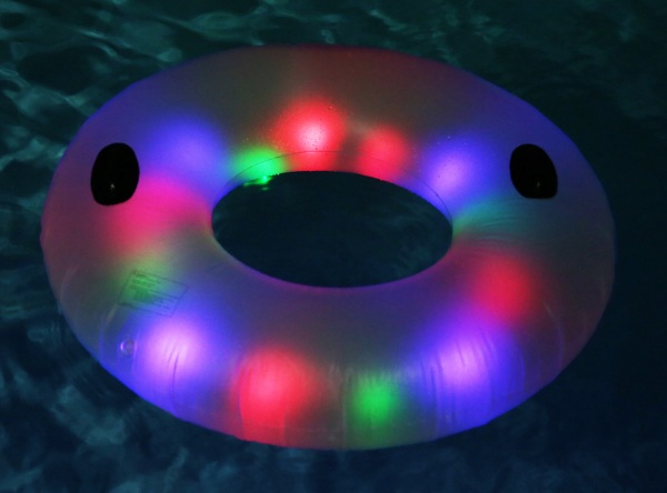 Deluxe LED Illuminated Water Tube – sit in this ring of light at your next pool party