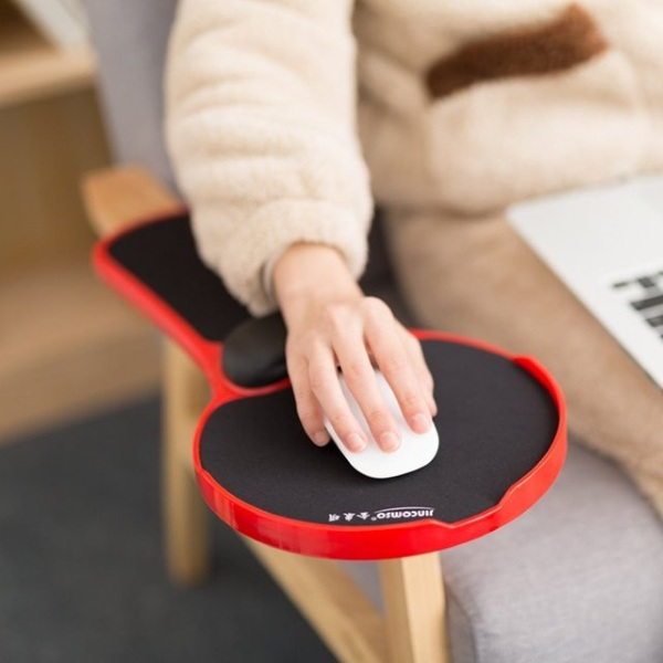 Mouse Pad Arm-stand Desk Extender in use