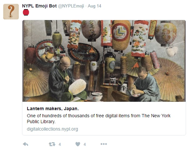 NYPL Emoji Bot – revealing the archives, one tweet at a time