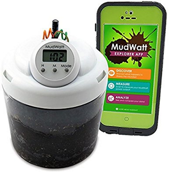 "MudWatt – check out these tiny ""pets"" that run a clock"