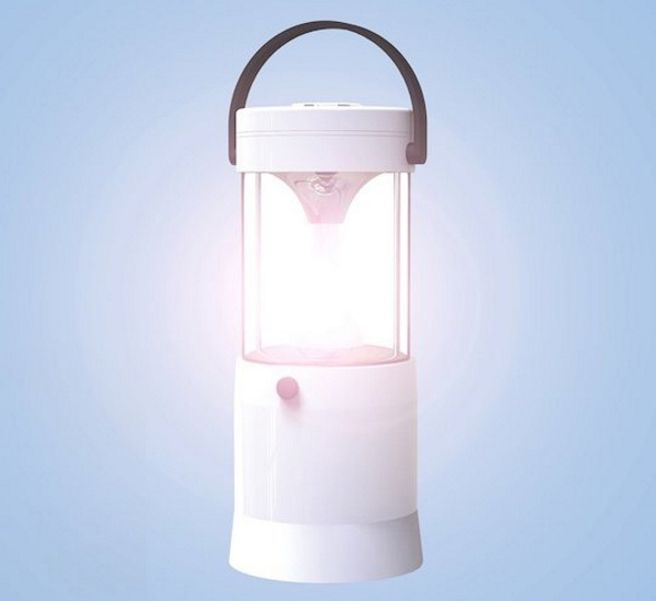 Saltwater Powered LED Lantern – skip the batteries and turn on the tap