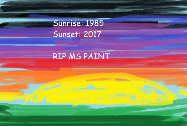Microsoft Paint – this long running program to end in the fall