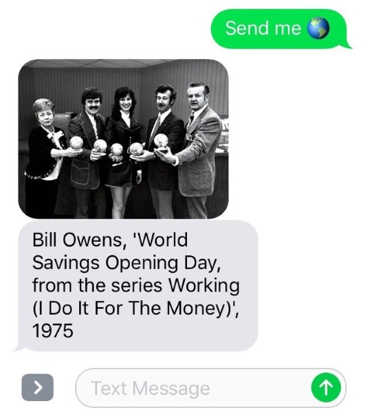 Send Me SFMOMA – brighten your day with fine over text message
