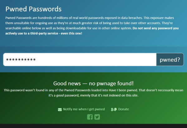 Pwned Passwords – is your password already part of this dataset?