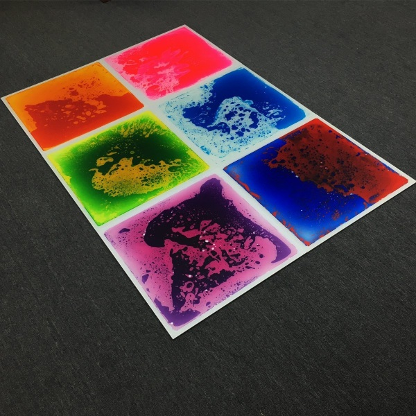 Colorful Liquid Dance Floor – check out these funky tiles