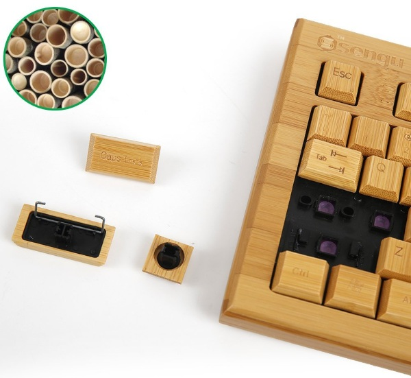 Bamboo Wireless Keyboard and Mouse – type with the feeling of real wood