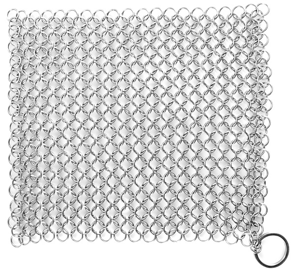 Stainless Steel Chainmail Scrubber – ditch the steel wool for this metal pot holder