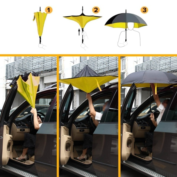 Inverted Reverse Windproof Umbrella – the umbrella that does it better