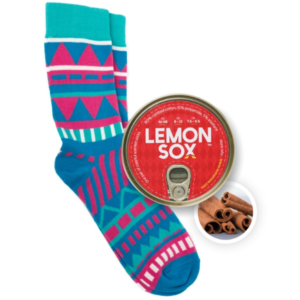 LemonSox – sweet scented socks in a can