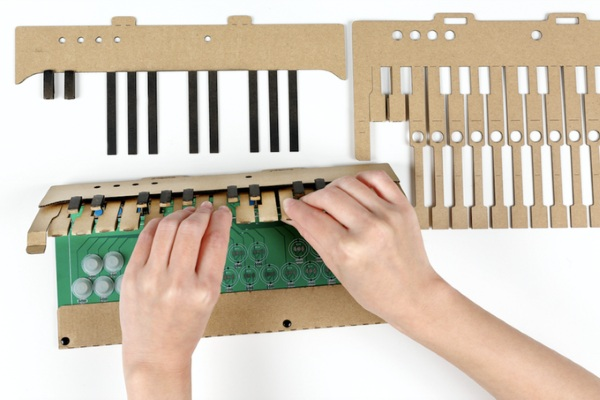 KAMO-OTO DIY Cardboard Keyboard – turn boring cardboard into a musical instrument