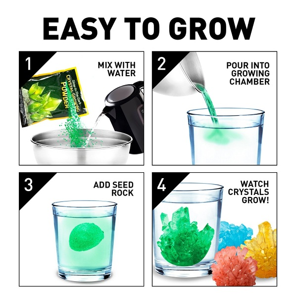 Mega Crystal Growing Lab – make your own rocks, right at home