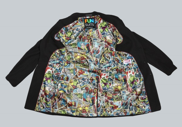 Marvel Comic Print Overcoat – wear your geek pride without letting everyone know