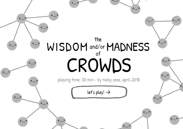 The Wisdom and/or Madness of Crowds – see why we think what we think in this informative game