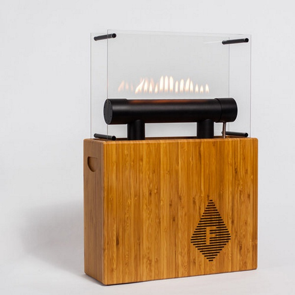 Fireside Audiobox – make flames dance with this Bluetooth speaker