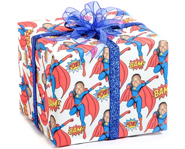 Gift Wrap My Face – personalized gift wrapping paper for all your holiday needs
