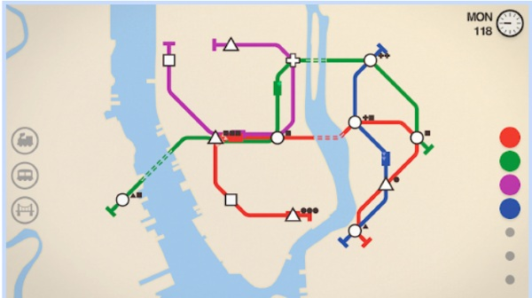 Mini Metro – design the subway and relax