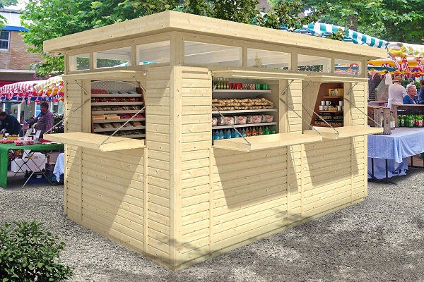 Allwood Retail Kiosk Amanda – open a tiny shop