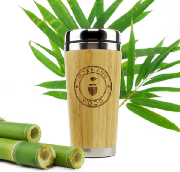 Bamboo Travel Coffee Mug – reuse this to reduce your morning coffee trash
