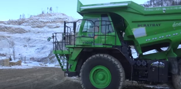 edumper – this massive electric dump truck never needs charged