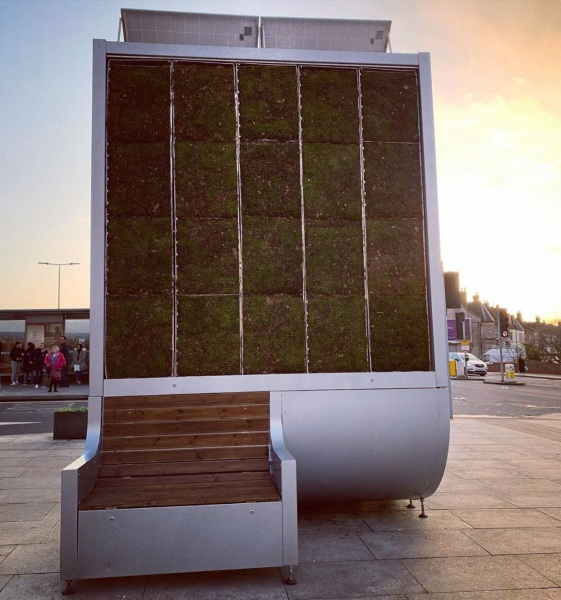 City Trees – the walls of moss that want to clean the air