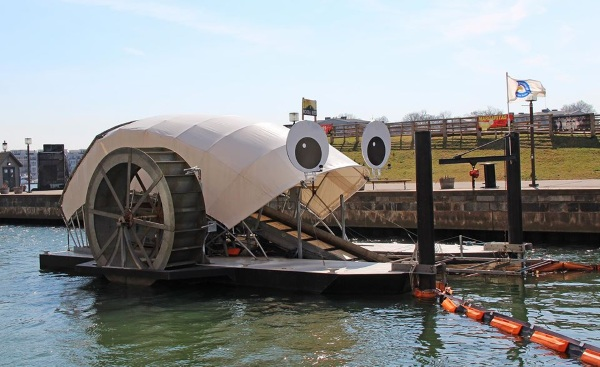 Mr. Trash Wheel – the whimsical water way cleaning machine