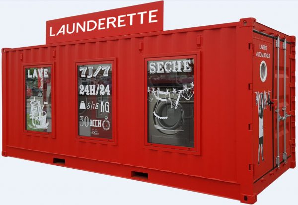 Revolution Container – recycled shipping container offers COVID friendly eco washing on the forecourt