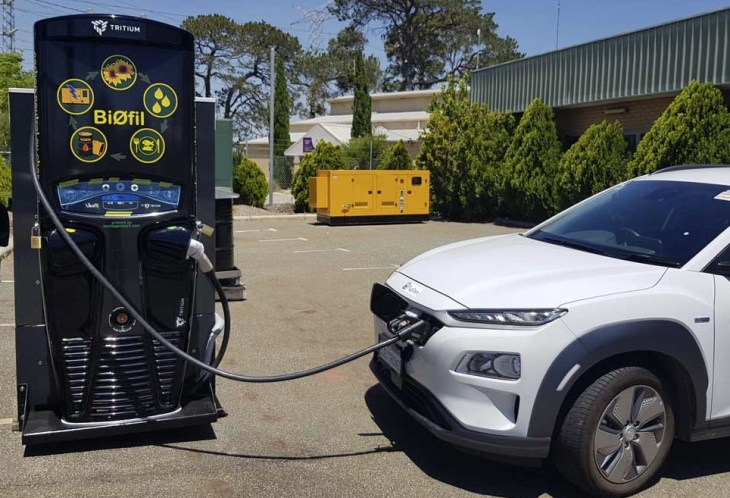 Biofil – The world's first chip-fat powered EV charger?