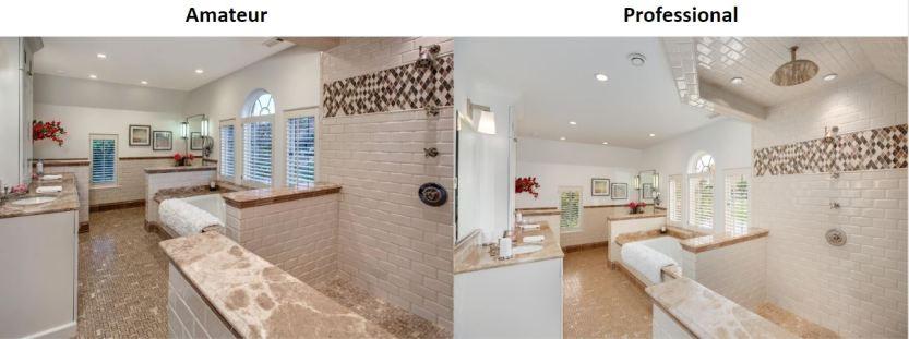 Master bathroom professional real estate photos