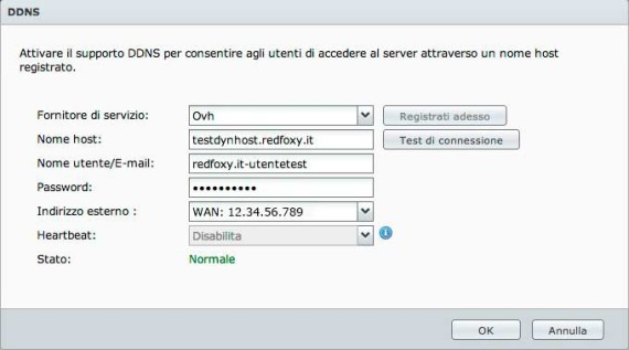NAS Synology - DDNS compilato