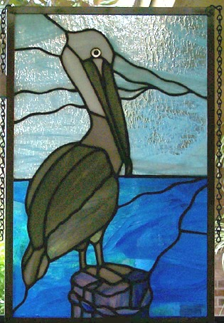 Pelican Stained Glass Panel Redgage