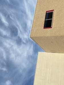 picture of a building and the sky